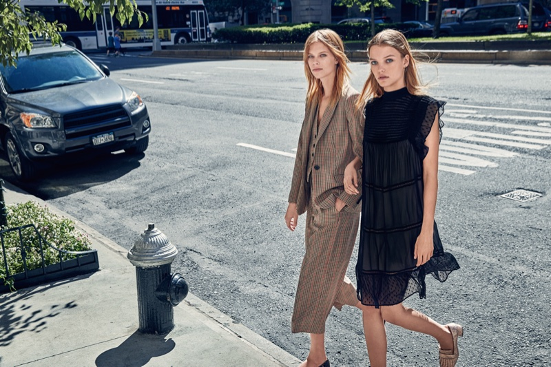 Roos Abdels And Lexi Boling Poses For Mango Fall 2016 07